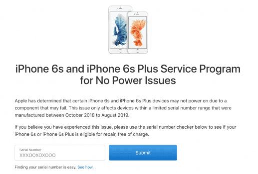 Apple uruchamia program darmowej wymiany iPhone'a 6s i 6s Plus, które mają problem z zasilaniem polecane, ciekawostki program naprawczy iPhone 6S, program naprawczy, iPhone 6s Plus, iPhone 6s, darmowy program wymiany iPhone 6S  Dzisiaj firma Apple uruchomiła bezpłatny program naprawczy dla iPhone'a 6s i iPhone'a 6s Plus, które mają problem z zasilaniem, a dokładniej nie chcą się uruchomić po wyłączeniu urządzenia. iPHone6s programnaprawczy 517x350