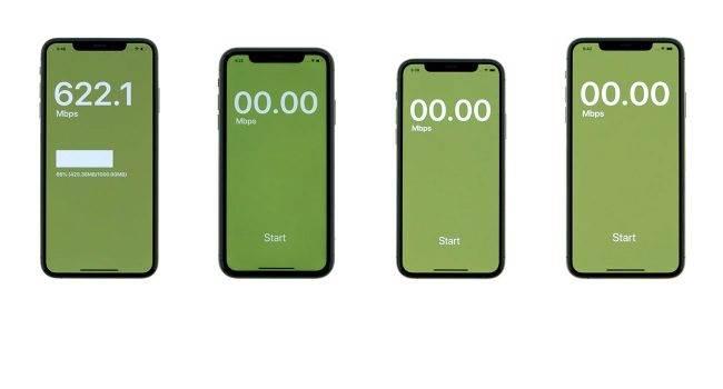 Sprawdzamy jak szybkie jest Wi-Fi w iPhone 11 / iPhone 11 Pro polecane, ciekawostki test wi-fi, iPhone 11 Pro Max, iPhone 11, Apple  Portal iClarified porównał prędkości Wi-Fi iPhone 11, 11 Pro i 11 Pro Max, a następnie porównał je z iPhone XS Max. Wyniki testu poniżej. iPhone11 wifi 650x350