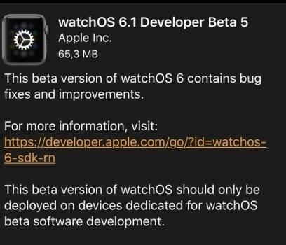 watchOS 6.1 developer beta 5 dostępny ciekawostki watchOS 6.1, developer beta 5, Apple  watchOS 6.1 jest jeszcze daleki od stabilnego wydania, a Apple udostępniło dziś jego piątą wersję testową. watchOS 1 408x350