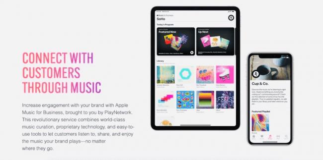 Rusza Apple Music for Business polecane, ciekawostki Apple Music for Business, apple music dla biznesu, Apple music  Apple Music for Business powstało w ramach współpracy Apple i PlayNetwork. Istotą usługi jest to, że sklepy będą mogły odtwarzać licencjonowaną muzykę w swoich punktach sprzedaży detalicznej. Applemusicbiznes 650x323
