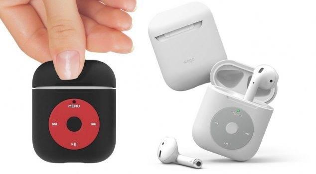 Elago wydaje obudowę dla AirPods w stylu iPoda Classic polecane, ciekawostki etui dla AirPOds w stylu iPad Classic, etui, Elago  Producent akcesoriów Elago wydał nową obudowę w stylu odtwarzacza iPod Classic dla bezprzewodowych słuchawek Apple AirPods. etui2 634x350