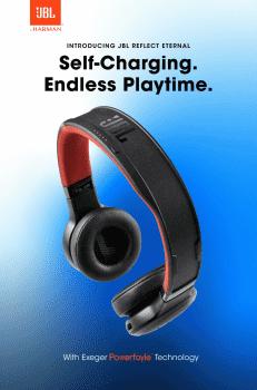 JBL zaprezentowało samoładujące się bezprzewodowe słuchawki polecane, ciekawostki słuchawki, JBL Reflect Eternal, JBL  Firma Harman International Industries (należąca do Samsung Electronics) zaprezentowała samoładujące słuchawki bezprzewodowe JBL Reflect Eternal. JBL 1 231x350