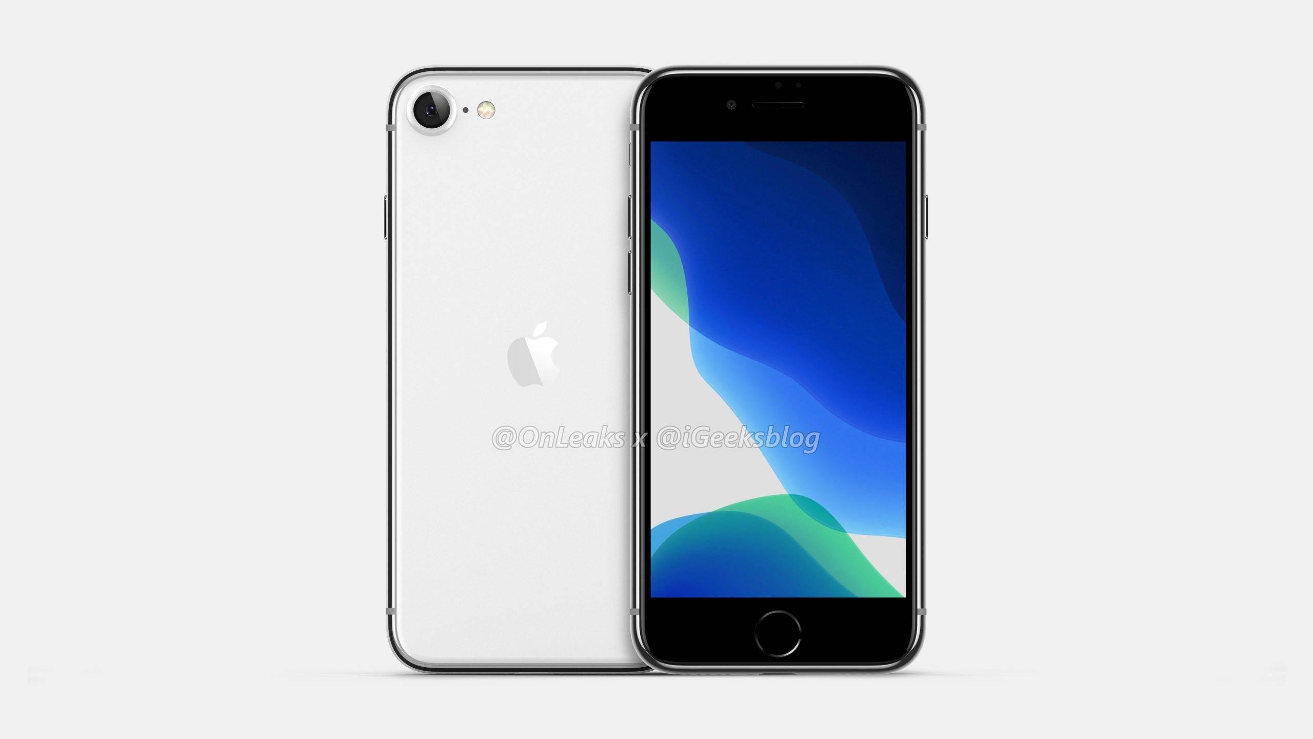 Tak prawdopodobnie będzie wyglądał iPhone 9, czyli następca iPhone?a SE polecane, ciekawostki Wideo, iPhone 9, Apple  W sieci za sprawą @OnLeaks pojawiły się rendery i wideo na którym najprawdopodobniej widzimy jak będzie wyglądać następca iPhone?a SE czyli iPhone 9. 2020 iPhone SE 2 4.7 LCD display scaled 1