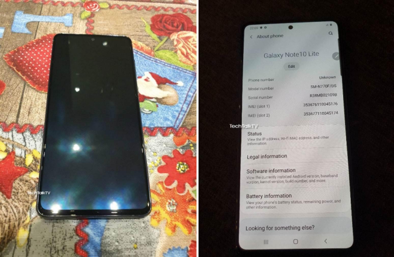 Samsung Galaxy Note10 Lite na pierwszych zdjęciach. Tylny aparat urządzenia jest bardzo podobny do... polecane, ciekawostki Specyfikacja, Samsung Galaxy Note10 Lite, ile kosztuje Galaxy Note 10 Lite, Galaxy Note10 Lite, Galaxy Note 10 Lite, cena  Według plotek, w tym miesiącu Samsung powinien wprowadzić do swojej oferty Galaxy S10 Lite i Galaxy Note10 Lite. Wciąż nie wiadomo dokładnie, kiedy odbędzie się premiera, ale w sieci pojawiły się już zdjęcia jednego z tych nowych produktów - Note10 Lite. Note10