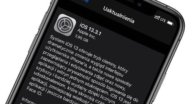 Apple udostępnia iOS 13.3.1 oraz iPadOS 13.3.1 - oto oficjalna lista zmian polecane, ciekawostki oficjalna lista zmian, lista zmian, iPadOS 13.3.1, iOS 13.3.1, co nowego, Aktualizacja  Po ponad 2 miesiącach testów, Apple udostępniło właśnie wszystkim użytkownikom nowe wersje systemów iOS i iPadOS. Lista zmian poniżej. iOS1331 1 650x350