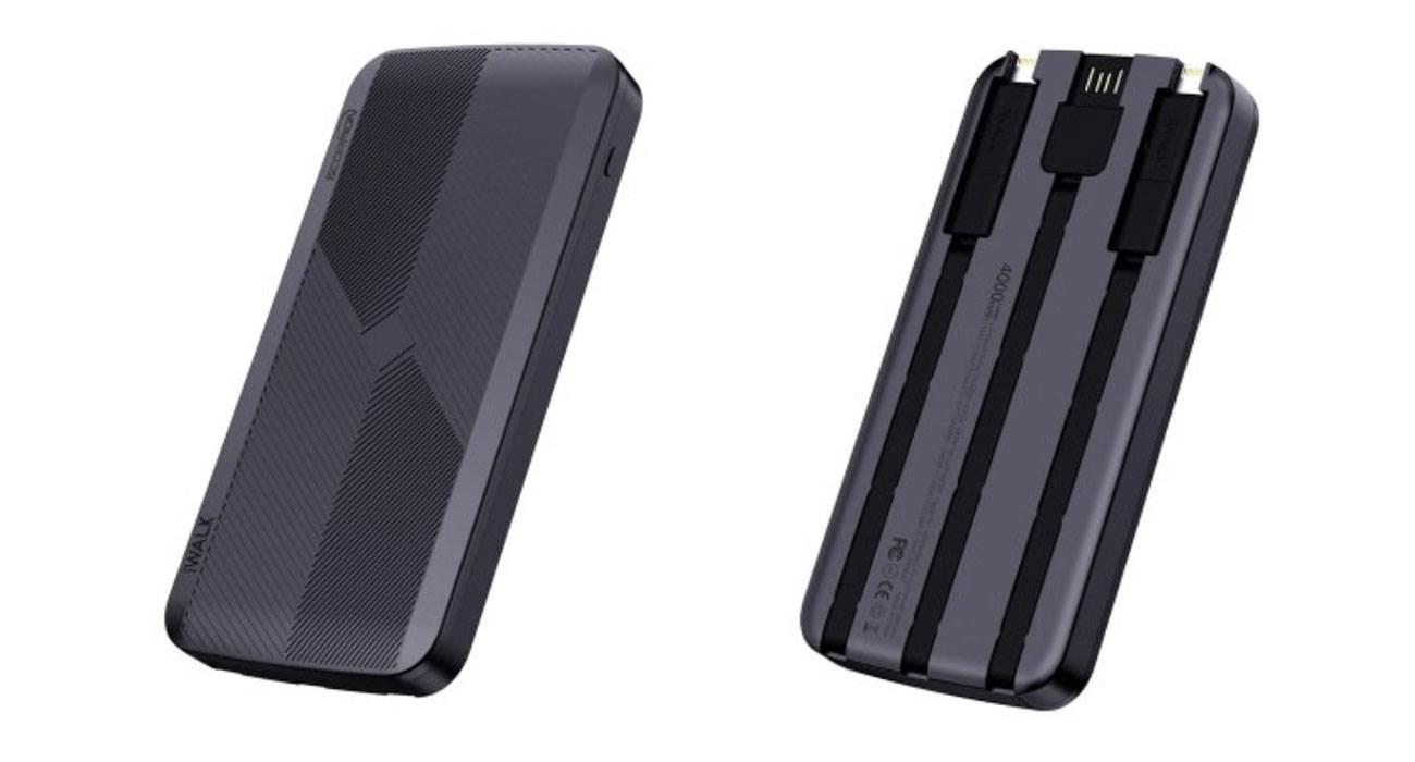 iWALK Scorpion 4000X - powerbank, który naładuje dwa iPhone?y jednocześnie za pomocą dwóch wbudowanych kabli Lightning polecane, nowosci, ciekawostki powerbank, iWALK Scorpion 4000X, iPhone  iWALK Scorpion 4000X, to powerbank, który jako jeden z nielicznych jest w stanie naładować dwa iPhone'y czy iPody jednocześnie za pomocą dwóch wbudowanych kabli z Lightning. skorpion