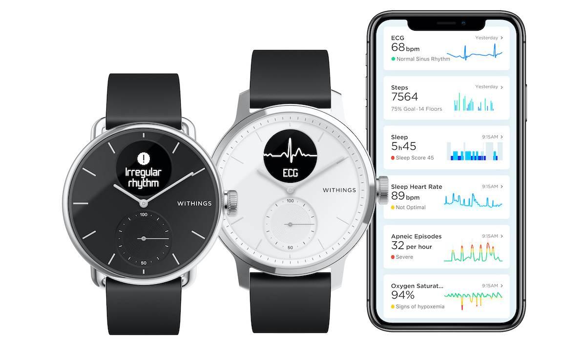 Withings przedstawia nowy inteligentny zegarek ScanWatch z funkcją EKG polecane, ciekawostki Withings ScanWatch, Withings, ScanWatch, cena  Firma Withings przedstawiła swoją nową serię inteligentnych zegarków o nazwie Withings ScanWatch. Urządzenia otrzymają funkcję EKG. withings scanwatch 7