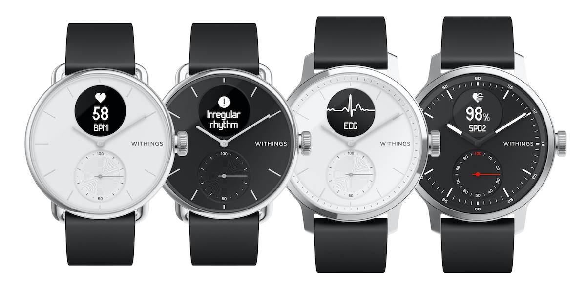 Withings przedstawia nowy inteligentny zegarek ScanWatch z funkcją EKG polecane, ciekawostki Withings ScanWatch, Withings, ScanWatch, cena  Firma Withings przedstawiła swoją nową serię inteligentnych zegarków o nazwie Withings ScanWatch. Urządzenia otrzymają funkcję EKG. withings scanwatch all
