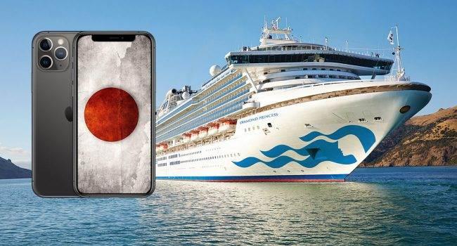 Dwa tysiące iPhone'ów dla pasażerów statku wycieczkowego Diamond Princess polecane, ciekawostki koronowirus, iPhone, Diamond Princess, Apple  Japońskie Ministerstwo Zdrowia planuje wyposażyć ponad 2000 pasażerów, którzy utknęli na pokładzie statku wycieczkowego Diamond Princess u wybrzeży Japonii w iPhone?y. Dlaczego? koronowirus 650x350