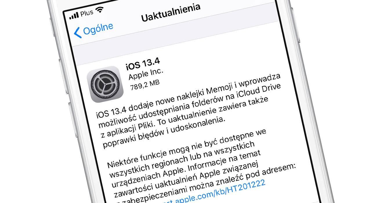 Systemy iOS 13.4 i iPadOS 13.4 oficjalnie dostępne dla wszystkich polecane, ciekawostki oficjalna lista zmian, lista zmian, iPadOS 13.4, iOS 13.4, co nowego  Stało się! Dosłownie w tym momencie, Apple udostępniło zapowiadane przez nas wcześniej nowe systemy. Są to iOS 13.4 oraz iPadOS 13.4. Oficjalna lista zmian poniżej. iOS134
