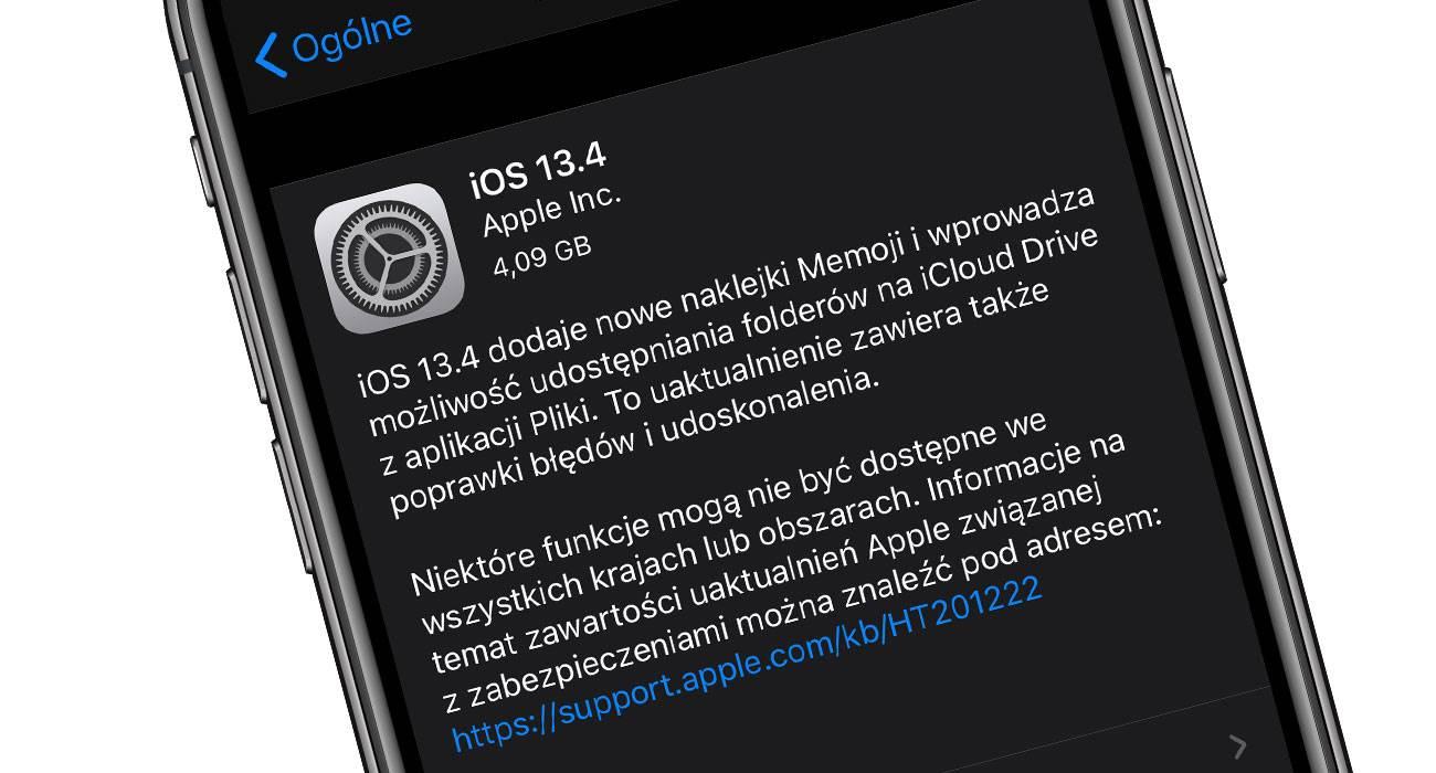 Apple wypuściło iOS 13.4 i iPadOS 13.4 Golden Master polecane, ciekawostki iPhone, iPadOS 13.4 GM, iPad, iOS 13.4 GM, Apple  Bardzo miła wiadomość dla wszystkich beta testerów. Właśnie Apple udostępniło iOS 13.4 i iPadOS 13.4 Golden Master, czyli prawdopodobnie ostateczną wersję najnowszego programowania. iOS134GM