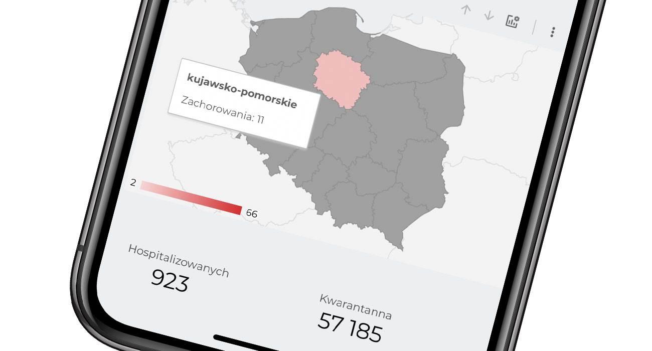 Zobacz najnowszą aktualizowaną co 15 minut mapę zarażeń koronawirusem (SARS-CoV-2) w Polsce polecane, ciekawostki mapa, koronawius, koronawirus w polsce, często aktualizowana mapa  Dziś mamy dla Was kolejną mapę pokazującą zarażenia koronawirusem w Polsce. Mapa jest aktualizowana co 15 minut i wygląda naprawdę fajnie. koronawirus 3