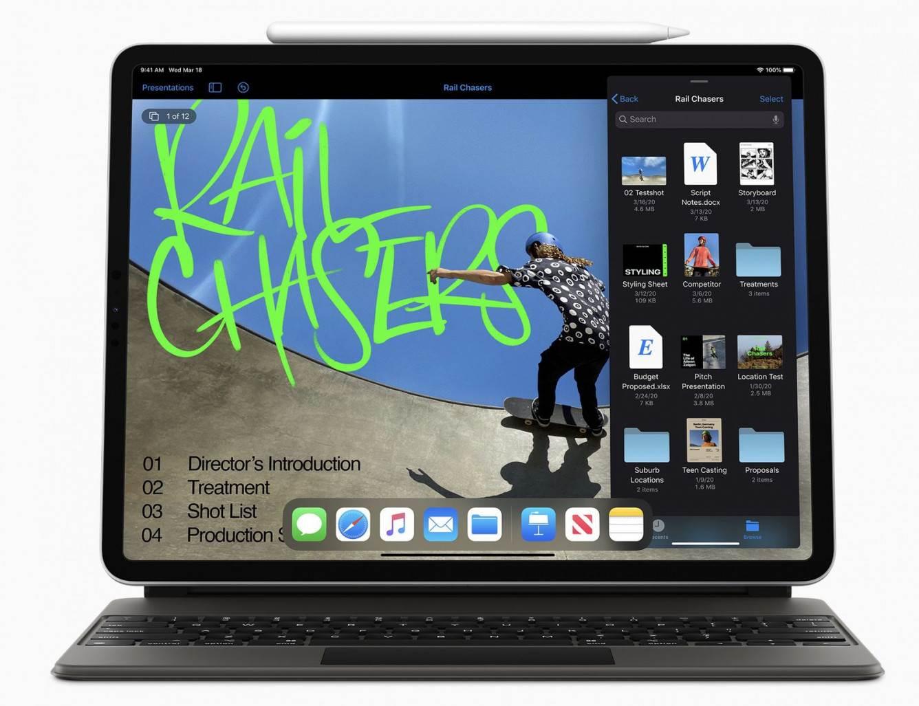 Apple doda obsługę gładzika i myszy do wszystkich iPadów z iPadOS 13.4 polecane, ciekawostki iPadOS 13.4, Aktualizacja  Już w najbliższy wtorek, Apple udostępni wszystkim użytkownikom finalne wersje swoich najnowszych systemów. Najbardziej z aktualizacji powinni jednak ucieszyć się właściciele iPadów. Dlaczego? new ipad pro trackpad keyboard
