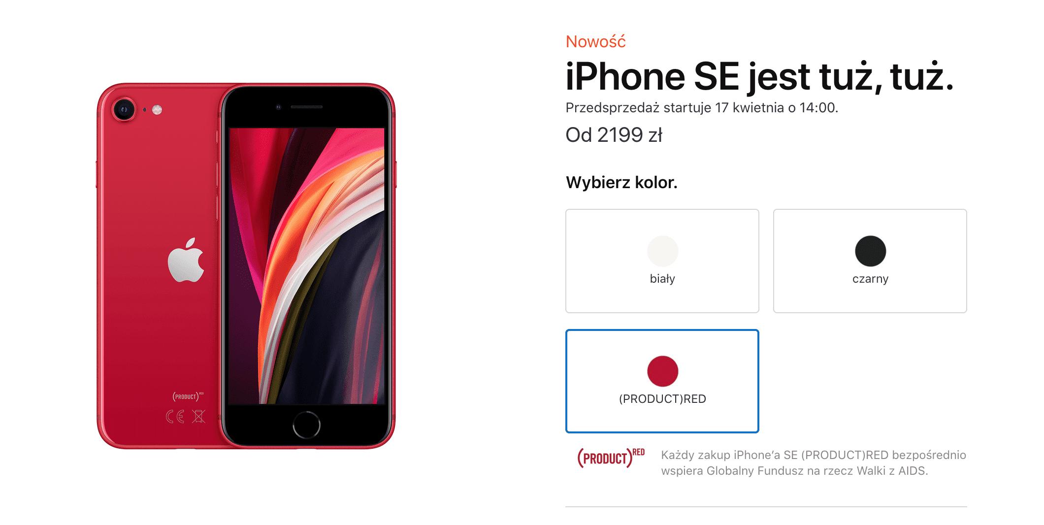 iPhone SE 2020 oficjalnie zaprezentowany polecane, ciekawostki Specyfikacja, ile kosztuje iPhone SE 2020, cena w polsce, Apple  Stało się. Właśnie gigant z Cupertino oficjalnie zaprezentował i wprowadził do swojej oferty nowego iPhone'a SE 2020 z 4,7-calowym ekranem. Zrzut ekranu 2020 04 15 o 17.14.35