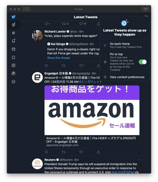 Długo oczekiwana funkcja wreszcie pojawiła się w oficjalnej apce Twitter dla komputerów Mac polecane, ciekawostki Twitter, Mac  Twitter wydał dziś aktualizację swojej oficjalnej aplikacji na komputery Mac z długo oczekiwaną funkcją. Jaką? dims 26 1