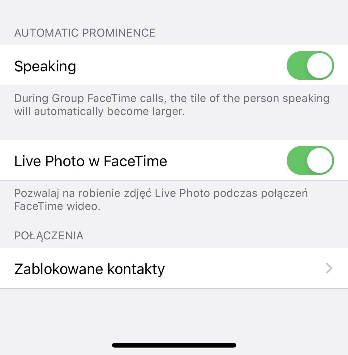iOS 13.5 pozwala wyłączyć automatyczne powiększanie podczas grupowego połączenia FaceTime polecane, ciekawostki powiększenie, mówienie, iOS 13.5, grupowe rozmowy wideo, facetime wideo, Apple  Apple w trzeciej wersji beta iOS 13.5 wprowadziło nową funkcję dotyczącą grupowych połączeń FaceTime Wideo. iOS13.5 speaking