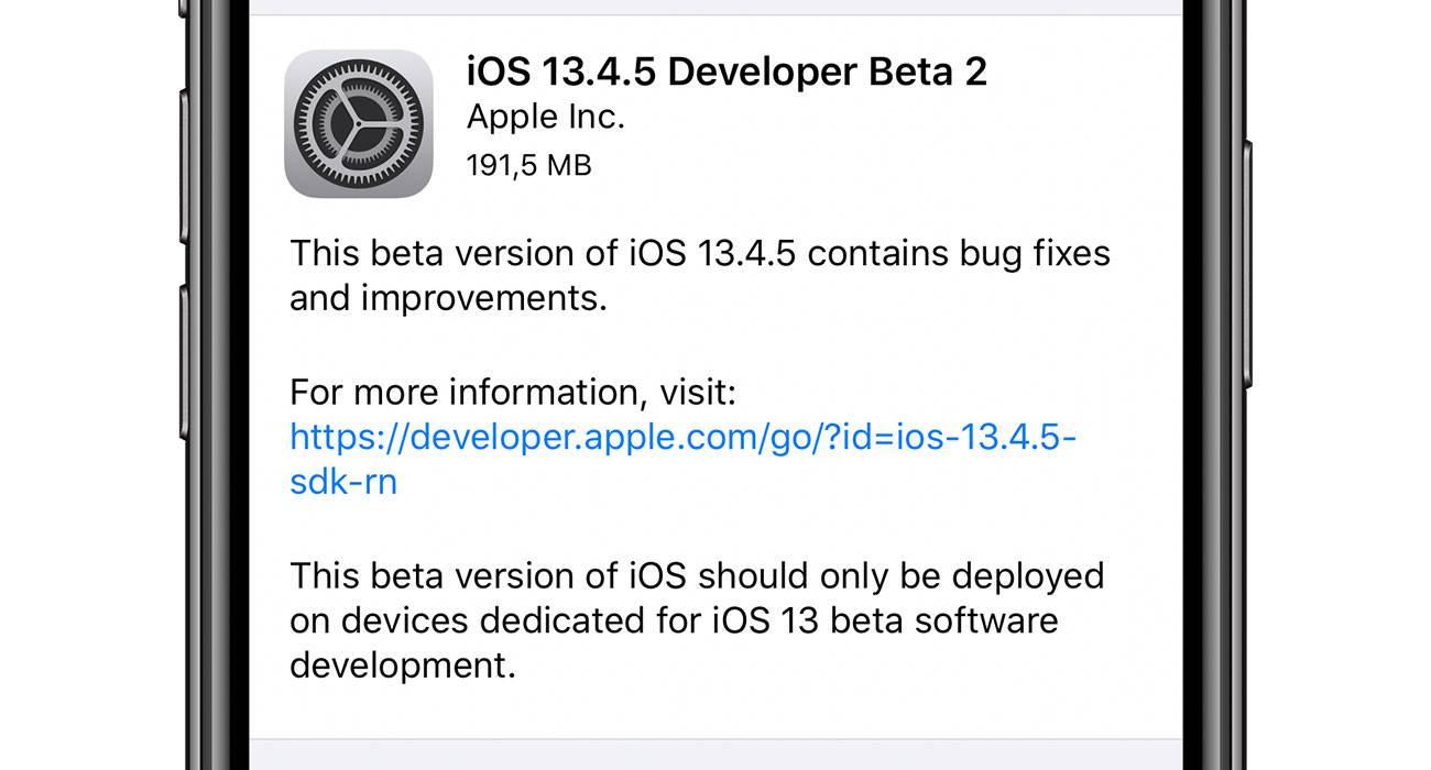 iOS 13.4.5 beta 2 dostępna polecane, ciekawostki zmiany, Update, lista zmian, iOS 13.4.5 beta 2, co nowego, Apple, Aktualizacja  Od czasu udostępnienia pierwszej bety iOS 13.4.5 minęły już ponad dwa tygodnie, więc zgodnie z tradycją Apple udostępniło właśnie deweloperom drugie bety najnowszej testowej wersji iOS i iPadOS. iOS1345b2