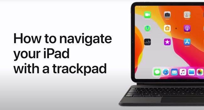 Apple pokazuje jak korzystać z gładzika w Magic Keyboard polecane, ciekawostki Wideo, Magic Keyboard z gładzikiem, jak działa Magic Keyboard, gesty w Magic Keyboard, Apple  Właśnie na kanale Apple Support pojawiło się nowe wideo w którym to gigant z Cupertino pokazuje jak działa gładzik w Magic Keyboard. iPadPro 650x350