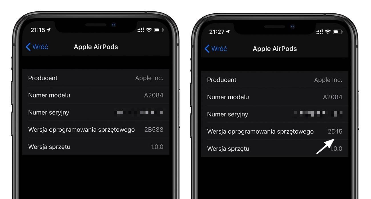 Apple uaktualniło oprogramowanie w AirPods Pro polecane, ciekawostki Update, Oprogramowanie, aktualizacja airpods, Aktualizacja, AirPods Pro, AirPods, 2D15  Posiadacze bezprzewodowych słuchawek firmy Apple się ucieszą. Wczoraj w godzinach wieczornych gigant z Cupertino wydał nowe oprogramowanie dla AirPods Pro. AirPods