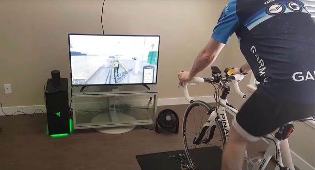 Nowy mod do GTA V pozwala jeździć po Los Santos na domowym rowerze treningowym polecane, ciekawostki Wideo, rower treningowy, GTA V  Deweloper o pseudonimie Makinolo wydał mod GTBikeV dla GTA V, przeznaczony do domowego roweru treningowego. Wygląda ciekawie. GTA mod 650x350