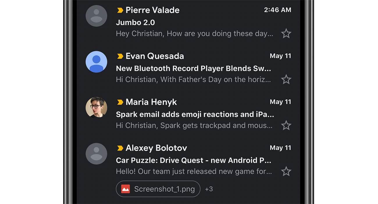 Najnowsza wersja Gmail na iOS wreszcie z trybem ciemnym polecane, ciekawostki tryb ciemny, iPhone, Gmail  Jeśli korzystacie z aplikacji Gmail na iOS i czekaliście na tryb nocny, to wreszcie się doczekaliście. Gmail