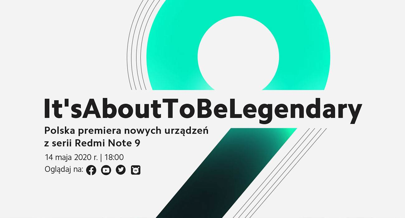 Już dziś Polska premiera nowych urządzeń z serii Redmi Note 9. Konferencja będzie dostępna na YouTube ciekawostki Xiaomi, Wideo, Redmi Note 9, przekaz na żywo, polska premiera redmi note 9, live stream, konferencja xiaomi  Już dzisiaj (14 maja), o godzinie 18:00, odbędzie się premiera urządzeń z serii Redmi Note 9, Mi Note 10 Lite oraz innych produktów, które wkrótce będą dostępne na polskim rynku. Xiaomi 1