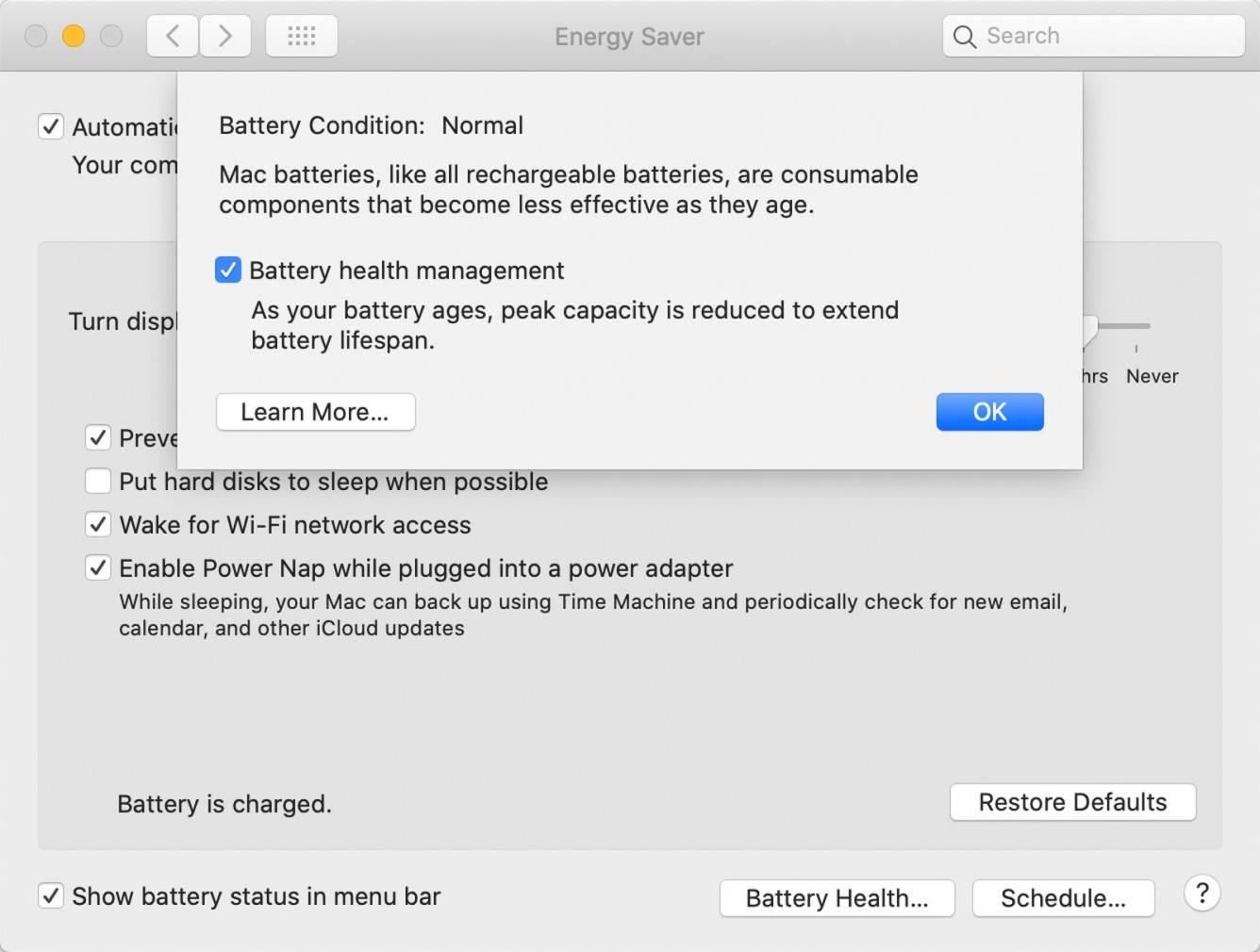 Apple udostępniło macOS Catalina 10.15.5 z funkcją zarządzającą stanem baterii polecane, ciekawostki macOS Catalina 10.15.5, co nowego  Wczoraj w godzinach wieczornych, Apple udostępniło wszystkim użytkownikom finalną wersję macOS Catalina 10.15.5 z funkcją zarządzającą stanem baterii i innymi innowacjami. batteryhealthmac2