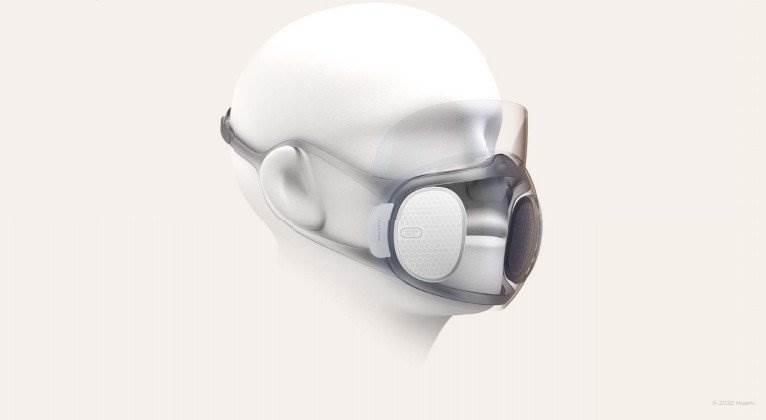 Huami przygotowuje maskę z filtrem N95, która będzie działać z iPhone?owym Face ID polecane, ciekawostki maska Huami, maska działająca z Face ID, Huami, Apple  Chiński producent gadżetów do noszenia Huami ogłosił stworzenie maski z wymiennym filtrem N95, która będzie kompatybilna z każdą technologią odblokowywania na twarzy w smartfonach. huami project aeri concept x
