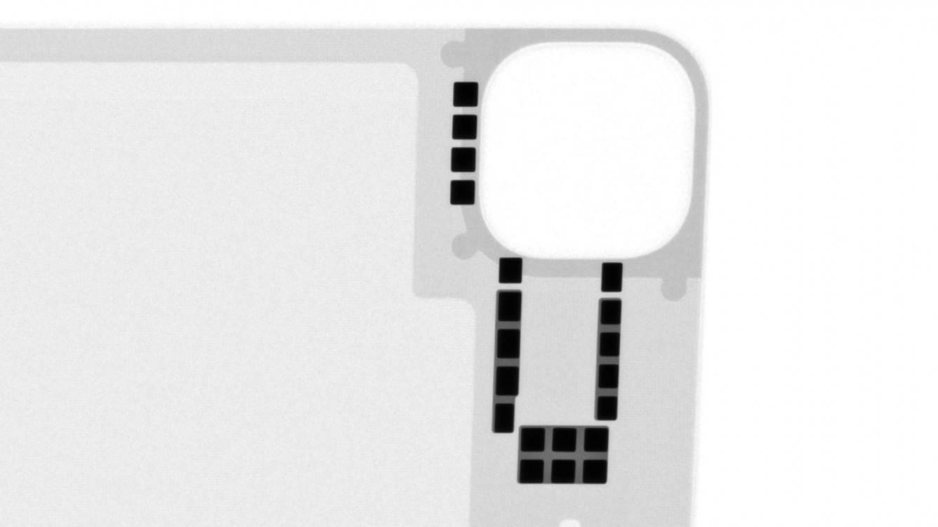 Magic Keyboard z gładzikiem dla iPad Pro prześwietlona przez iFixit polecane, ciekawostki Magic Keyboard z gładzikiem, Magic Keyboard, ifixit  We współpracy z Creative Electron specjaliści iFixit prześwietlili nową Magic Keyboard na iPada Pro i udostępnili zdjęcia wewnętrznych komponentów. magnets x