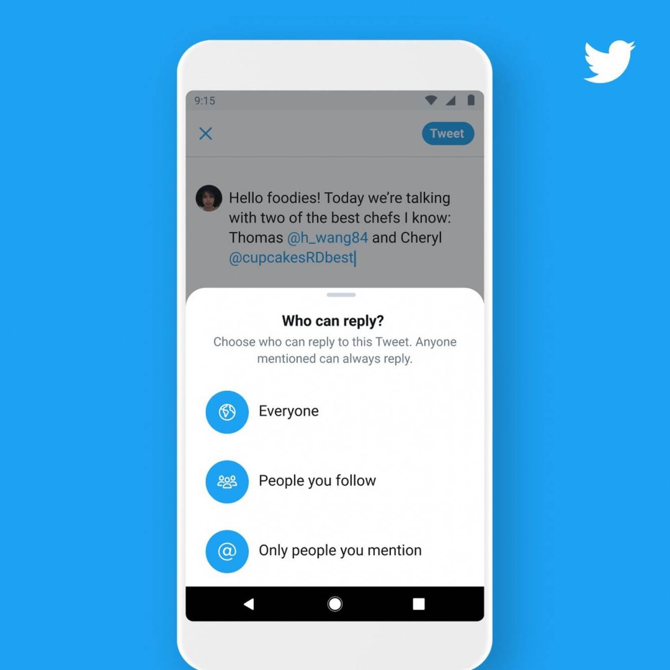 Twitter testuje funkcję ograniczenia odpowiedzi polecane, ciekawostki Twitter, ograniczenia odpowiedzi  Serwis Twitter zaczął testować funkcję, która pozwala ograniczyć możliwość reagowania na tweety. Ta innowacja została ogłoszona na targach CES 2020 w styczniu. twitterconversationsettings1