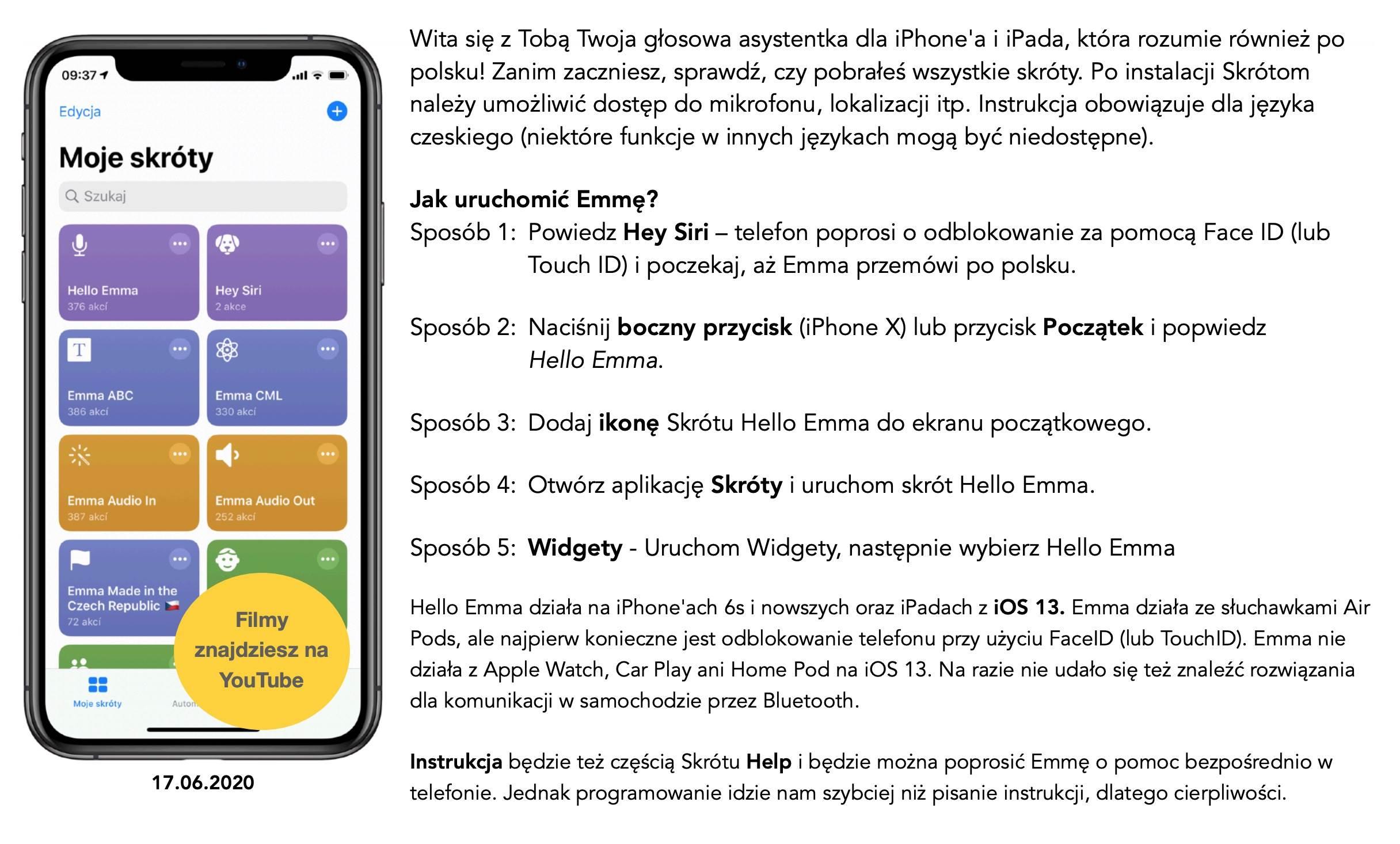 Czech nauczył mówić iPhone?a po polsku. Oto Emma - darmowy odpowiednik Siri polecane, ciekawostki Wideo, polski odpowiednik siri, Hello Emma, Emma na iPhone, Emma, czech nauczyl mowic iPhone po polsku  Jeśli znudziło się Wam czekanie na polską Siri, to już dziś możecie zainstalować w swoim iPhone, iPad Emmę, czyli darmowy i znacznie lepszy odpowiednik Siri - tej od Apple. 1@2x 34