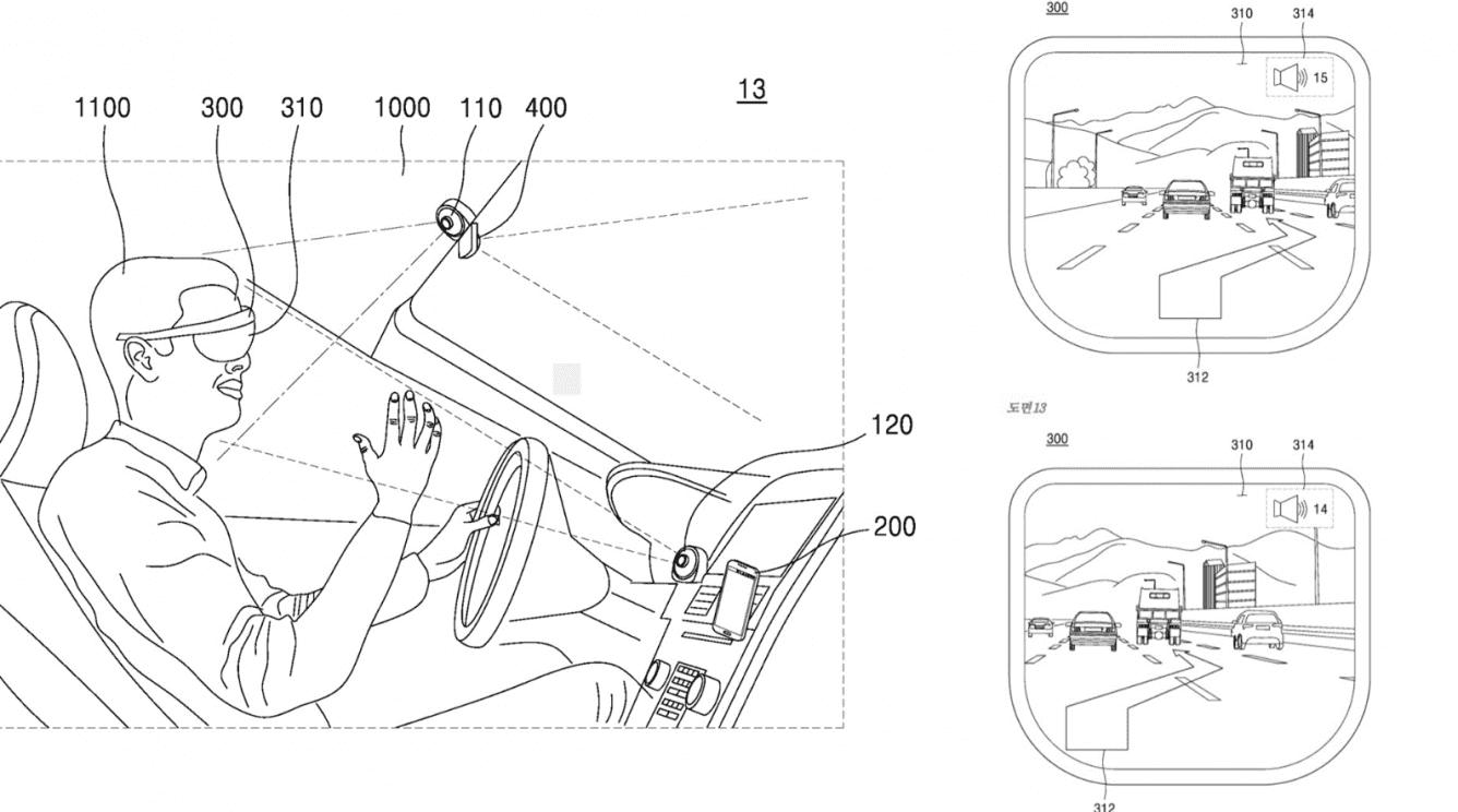 Nowy patent Samsunga zdradza wygląd nawigacji w okularach AR polecane, ciekawostki Samsung AR, Samsung, okulary rzeczywistości rozszerzonej, okulary AR  W sieci pojawił się nowy patent Samsunga opisujący technologię nawigacji dla okularów rzeczywistości rozszerzonej podczas prowadzenia samochodu. Samsung AR