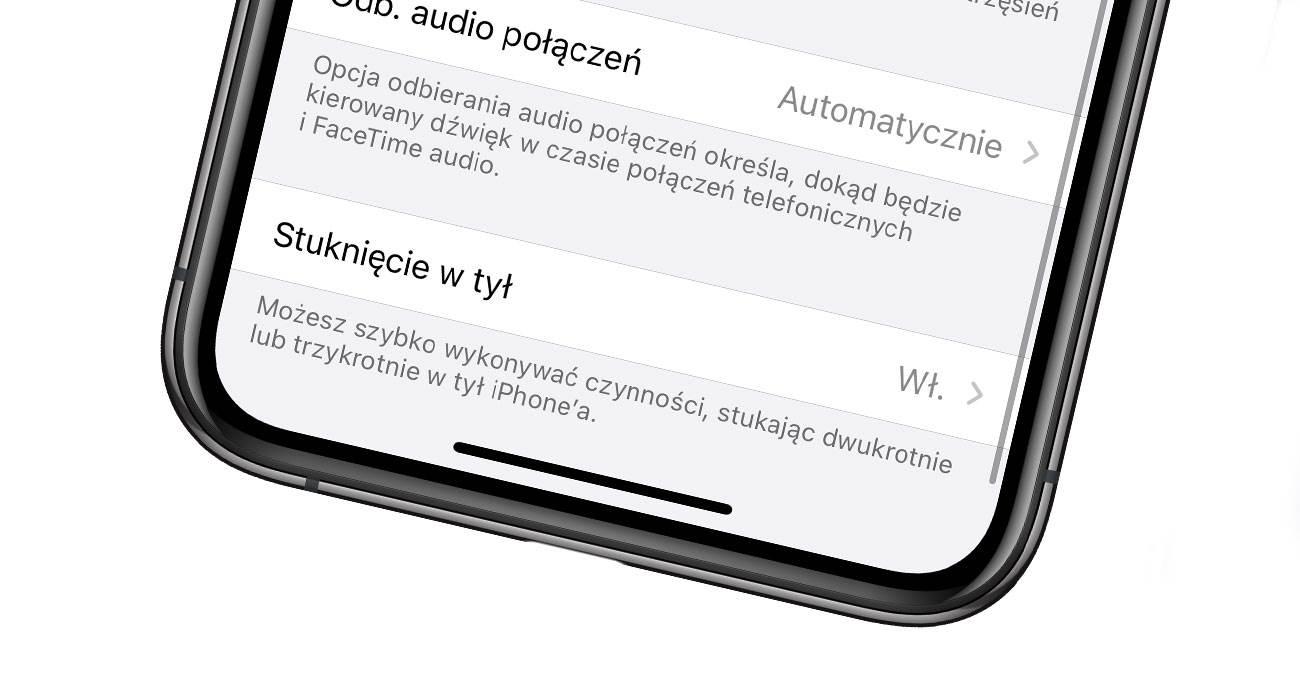 Stuknięcie w tył - magiczna funkcja w iOS 14, którą musisz znać! polecane, ciekawostki Wideo, stuknij w tył, stukniecie w tyl, stukanie w iPhone, podwojne pukniecie w tyl iPhone, jak dziala, iPhone, iOS 14, funkcja stukniecia w tyl iPhone  Stuknięcie w tył, to funkcja o której już pisaliśmy, ale jest ona na tyle fajna, że teraz po wydaniu iOS 14 musimy o niej obowiązkowo wspomnieć kolejny raz. Stukniecie w tyl