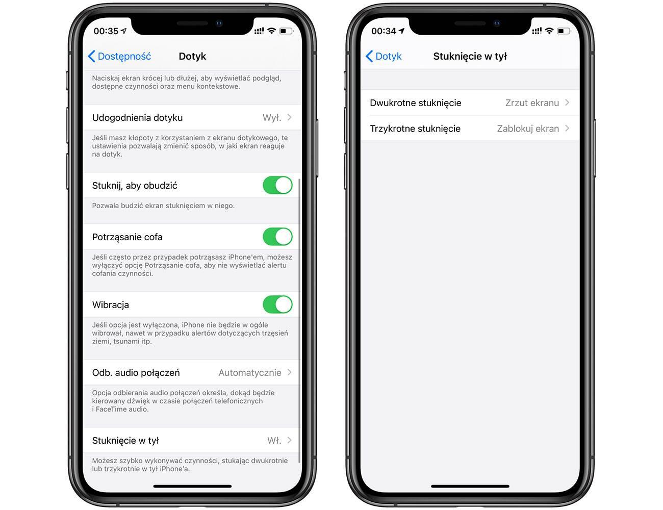 Stuknięcie w tył - magiczna funkcja w iOS 14, którą musisz znać! polecane, ciekawostki Wideo, stuknij w tył, stukniecie w tyl, stukanie w iPhone, podwojne pukniecie w tyl iPhone, jak dziala, iPhone, iOS 14, funkcja stukniecia w tyl iPhone  Stuknięcie w tył, to funkcja o której już pisaliśmy, ale jest ona na tyle fajna, że teraz po wydaniu iOS 14 musimy o niej obowiązkowo wspomnieć kolejny raz. dotyk 1