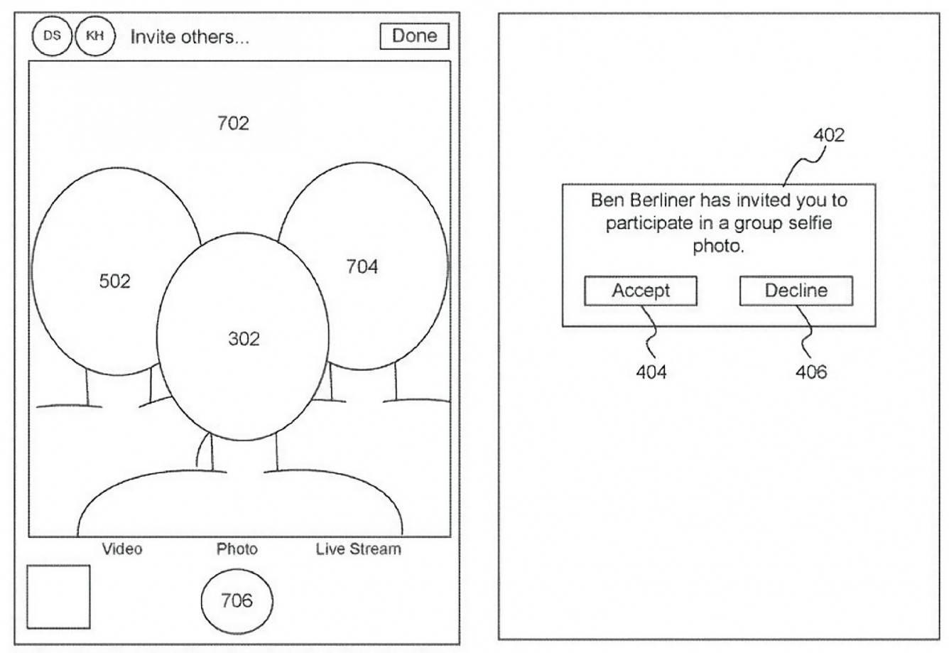 Apple uzyskuje patent na grupowe selfie na odległość polecane, ciekawostki wirtualne selfie, selfie na odległość, iPhone, grupowe selfie na odległość, Apple  Apple uzyskało patent na oprogramowanie ?generowanie sztucznych grupowych selfie?. O co dokładnie chodzi? Już wyjaśniamy.  grupowe selfie apple