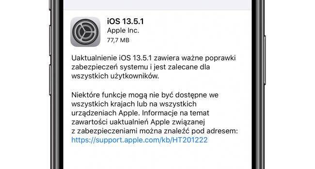Apple udostępniło iOS 13.5.1 - oficjalna lista zmian polecane, ciekawostki Update, OTA, Lista zmian w iOS 13.5.1, lista zmian, iPhone, iOS 13.5.1, Co nowego w iOS 13.5.1, Apple, Aktualizacja  Dość niespodziewanie, Apple udostępniło właśnie wszystkim użytkownikom nowe systemy - iOS 13.5.1 oraz iPadOS 13.5.1. Oficalana lista zmian poniżej. iOS 13.5.1 650x350