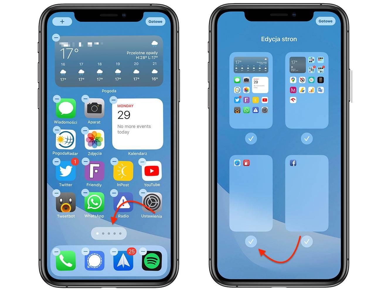 iOS 14 pozwala ukryć nieużywane ekrany główne polecane, ciekawostki jak ukryc ekran, iPhone, iOS 14  Po kilkudniowej przerwie powracamy do opisywania nowości dostępnych w iOS 14. W tym wpisie dowiecie się jak ukryć nieużywane ekrany główne w iPhone. iOS14 2 7