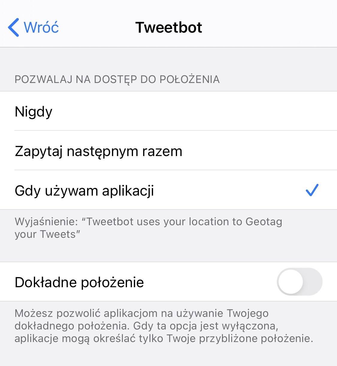 Dokładne położenie - kolejna nowość w iOS 14 / iPadOS 14, która dba o naszą prywatność polecane, ciekawostki Nowość, iPhone, iPadOS 14, iOS 14, Dokładne położenie  Kolejną bardzo ciekawą nowością w iOS 14 i iPadOS 14 o której musimy wspomnieć jest opcja Dokładne położenie. Co to takiego i jak działa? Już wyjaśniamy. iOS14 polozenie 1