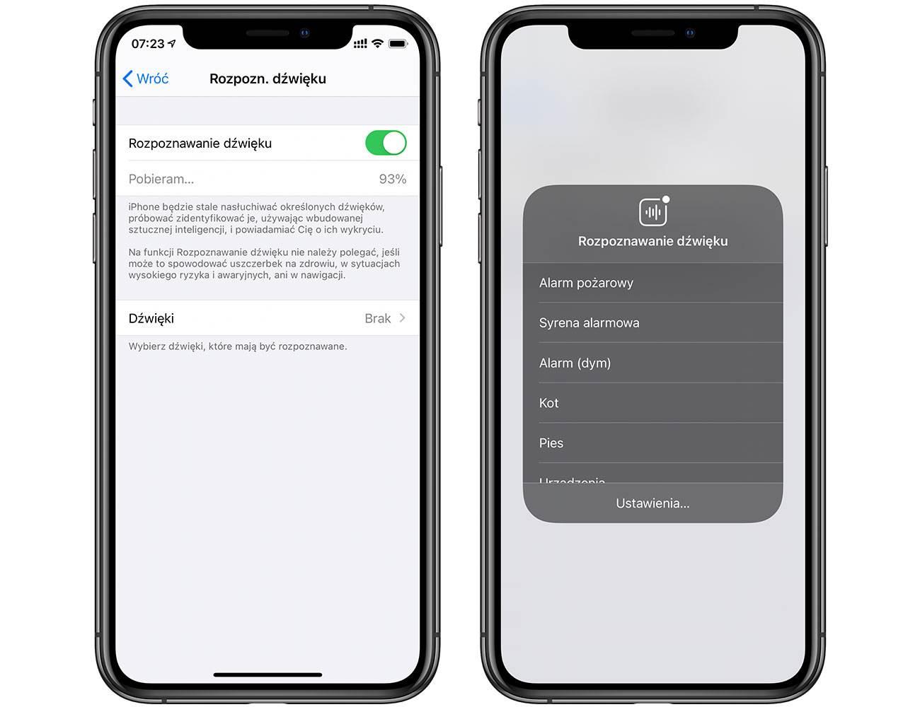 Twój iPhone może rozpoznawać dźwięki. Apple udostępnia instrukcję korzystania z funkcji polecane, ciekawostki Wideo, Rozpoznawanie dźwięku, iPhone, iPad, iOS  Firma Apple opublikowała nowe wideo opisujące działanie funkcji rozpoznawania dźwięku w iPhone i iPad. Znajduje się ona w menu dostępności. iOS14 rozpoznawanie 1