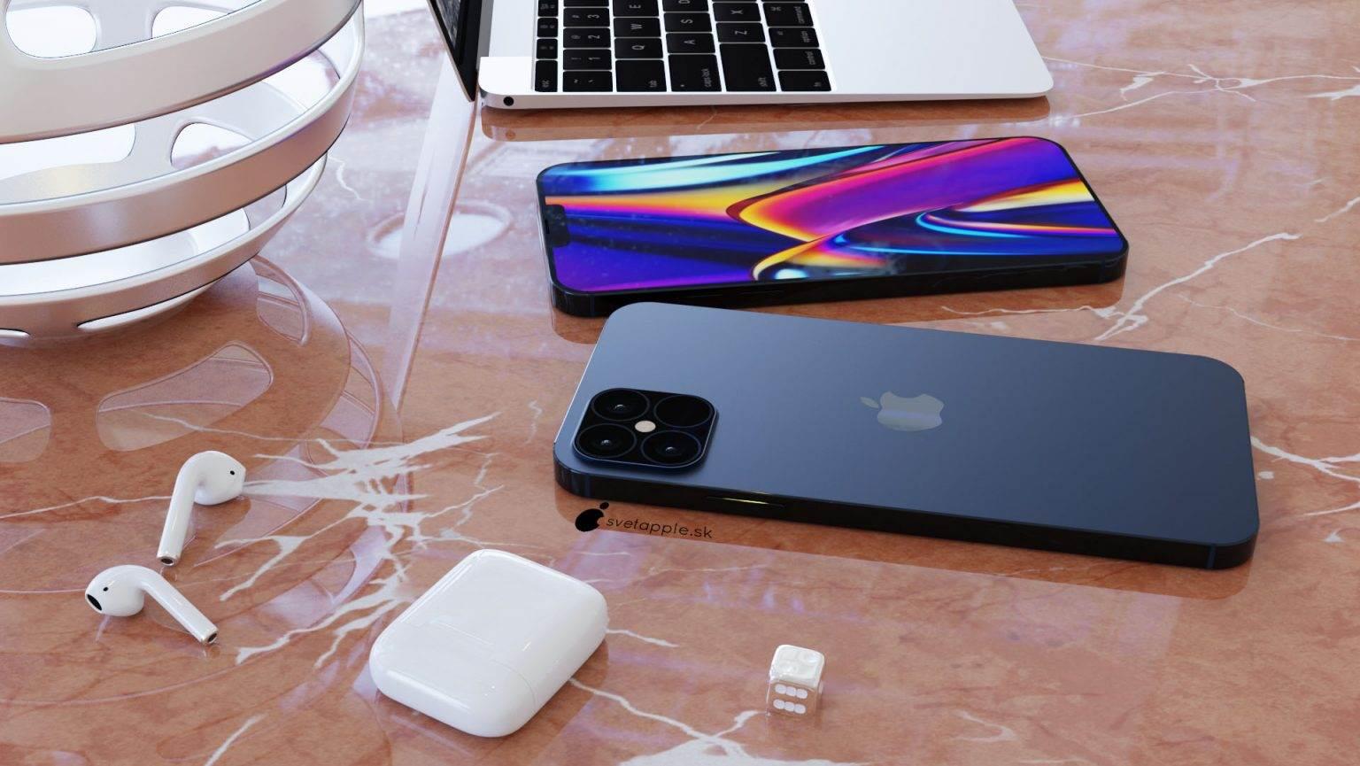 Granatowy kolor i design w stylu iPada Pro - zobacz nowe rendery iPhone 12 Pro polecane, ciekawostki wygląd iPhone 12 Pro, rendery, iPhone 12 Pro  Svetapple opublikował nowe rendery iPhone 12 Pro, które powstały na podstawie najnowszych przecieków. Urządzenie wygląda genialnie. Musicie koniecznie to zobaczyć. iPhone12Pro 2