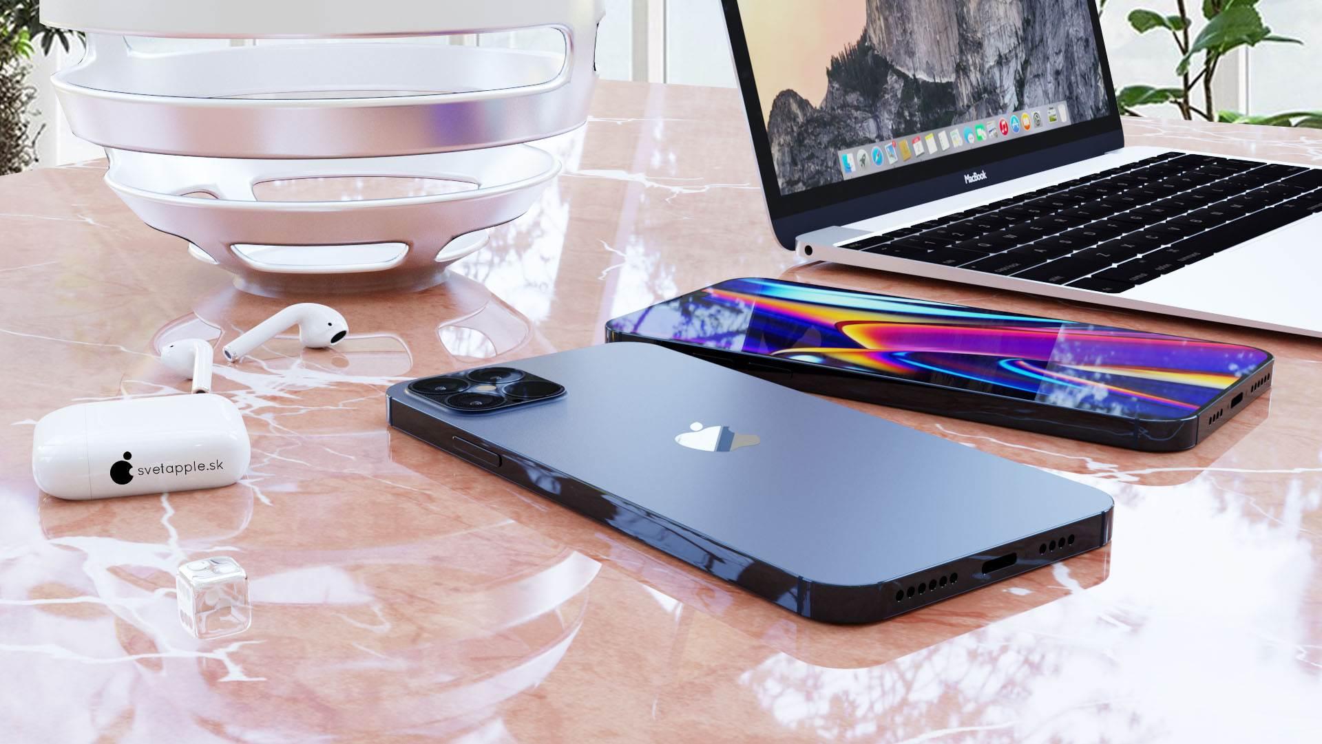 Granatowy kolor i design w stylu iPada Pro - zobacz nowe rendery iPhone 12 Pro polecane, ciekawostki wygląd iPhone 12 Pro, rendery, iPhone 12 Pro  Svetapple opublikował nowe rendery iPhone 12 Pro, które powstały na podstawie najnowszych przecieków. Urządzenie wygląda genialnie. Musicie koniecznie to zobaczyć. iPhone12Pro 3