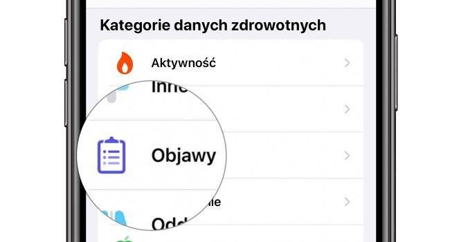 Objawy - nowa kategoria w aplikacji Zdrowie w iOS 13.6 polecane, ciekawostki Zdrowie, objawy nowość w iOS 13.6, objawy, kategoria objawy, iOS 13.6  Kolejną nowością w udostępnionej wczoraj becie iOS 13.6 jest kategoria ?Objawy? w aplikacji Zdrowie. Co to takiego? objawy iOS13.6 650x350