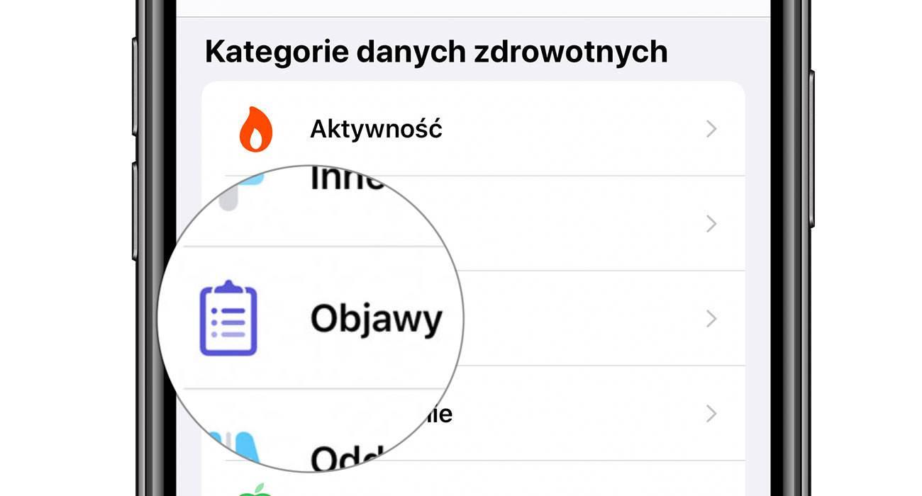 Objawy - nowa kategoria w aplikacji Zdrowie w iOS 13.6 polecane, ciekawostki Zdrowie, objawy nowość w iOS 13.6, objawy, kategoria objawy, iOS 13.6  Kolejną nowością w udostępnionej wczoraj becie iOS 13.6 jest kategoria ?Objawy? w aplikacji Zdrowie. Co to takiego? objawy iOS13.6