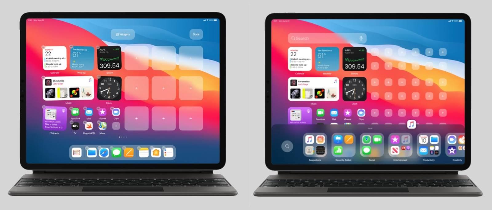 Ciekawa koncepcja iPadOS 15 ciekawostki iPadOS 15, iPad, Apple  Projektant Parker Ortolani przedstawił pierwszą koncepcję iPadOS 15 z ulepszonym ekranem głównym. iPadOS15 2