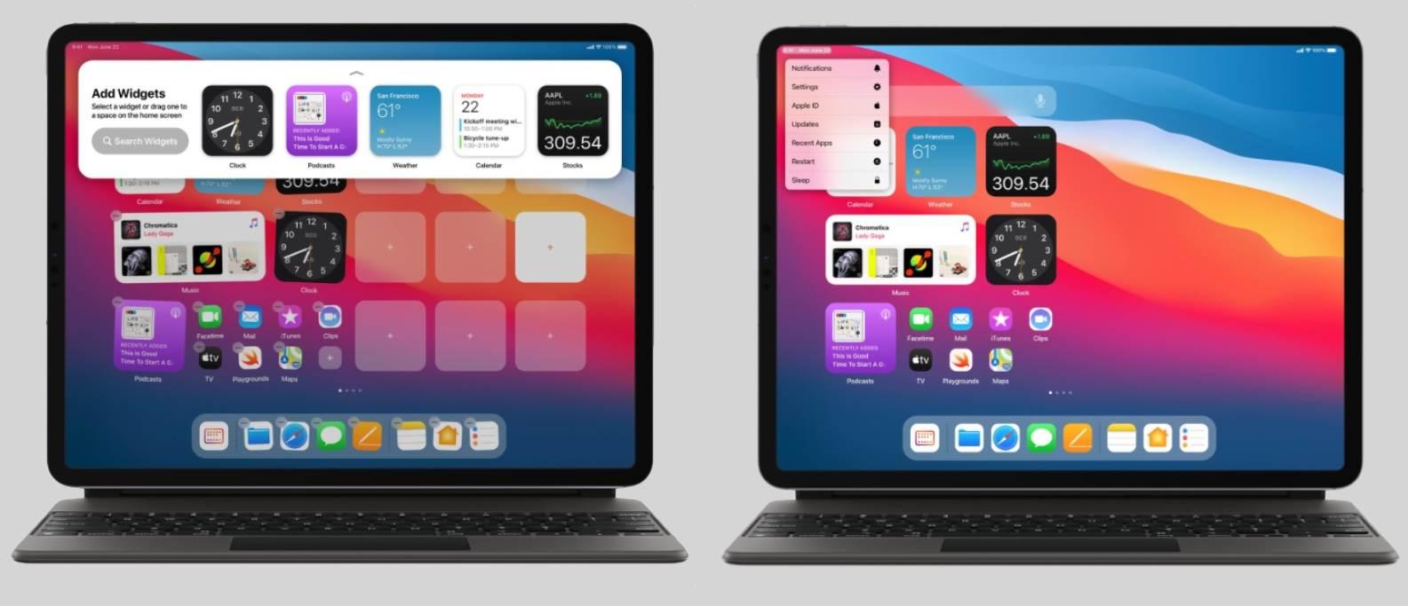 Ciekawa koncepcja iPadOS 15 ciekawostki iPadOS 15, iPad, Apple  Projektant Parker Ortolani przedstawił pierwszą koncepcję iPadOS 15 z ulepszonym ekranem głównym. iPadOS15 3