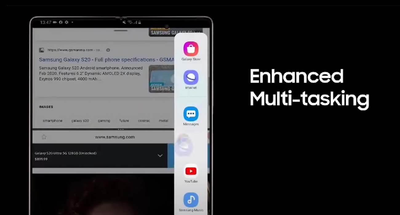 W sieci pojawiła się oficjalna reklama Samsung Galaxy Z Fold2 5G polecane, ciekawostki Wideo, Samsung Galaxy Z Fold2 5G, Samsung  \W sieci pojawiła się oficjalna reklama nowego składanego smartfona Samsung Galaxy Z Fold2 5G, która ujawnia kluczowe cechy i niektóre parametry techniczne gadżetu. fold