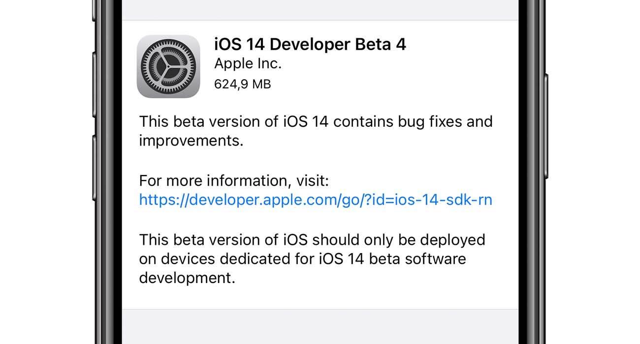 iOS 14 beta 4 dostępna do pobrania - lista zmian polecane, ciekawostki zmiany, Update, nowosci w iOS 14 beta 4, nowosci, lista zmian, iOS 14 beta 4, iOS 14 beta, co nowego w iOS 14 beta 4, co nowego, Apple, Aktualizacja  Od czasu wypuszczenia trzeciej bety iOS 14 minęły dwa tygodnie, więc zgodnie z tradycją Apple udostępniło deweloperom czwartą betę iOS 14. Lista zmian i nowości w iOS 14 beta 4 poniżej. iOS14beta4