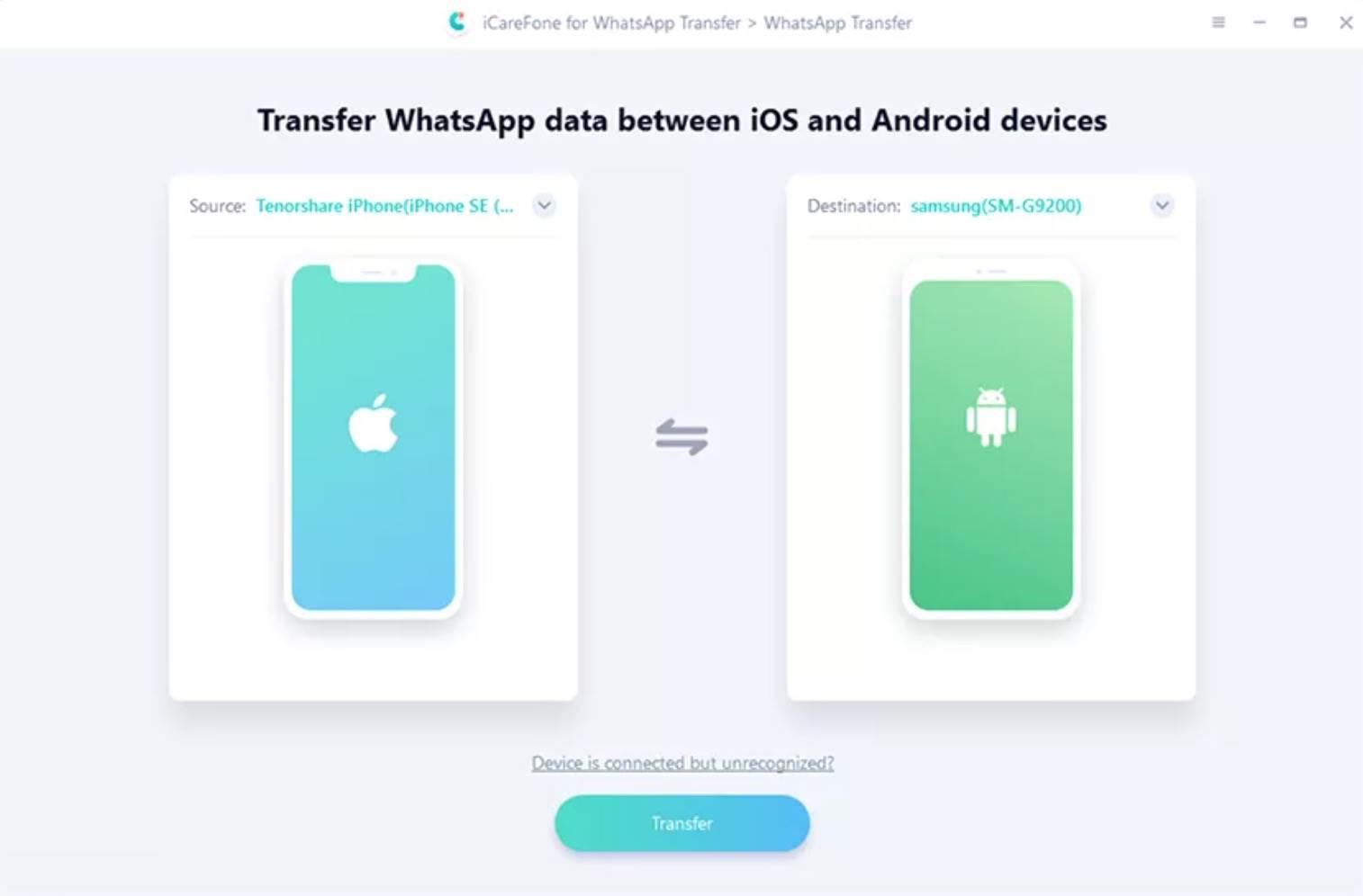 iCareFone: przesyłaj, twórz kopie zapasowe i przywracaj dane WhatsApp polecane, ciekawostki WhatsApp, jak przeniesc whastapp, iCareFone Whatsapp Transfer, iCareFone  Ponad miliard ludzi regularnie korzysta z komunikatora WhatsApp, który zapewnia bezpieczną komunikację z naszymi przyjaciółmi i rodziną. Wszystko fajnie pięknie, ale problem pojawia się wtedy, gdy chcemy przenieść czaty do nowego telefonu z innym systemem.  1@2x 30