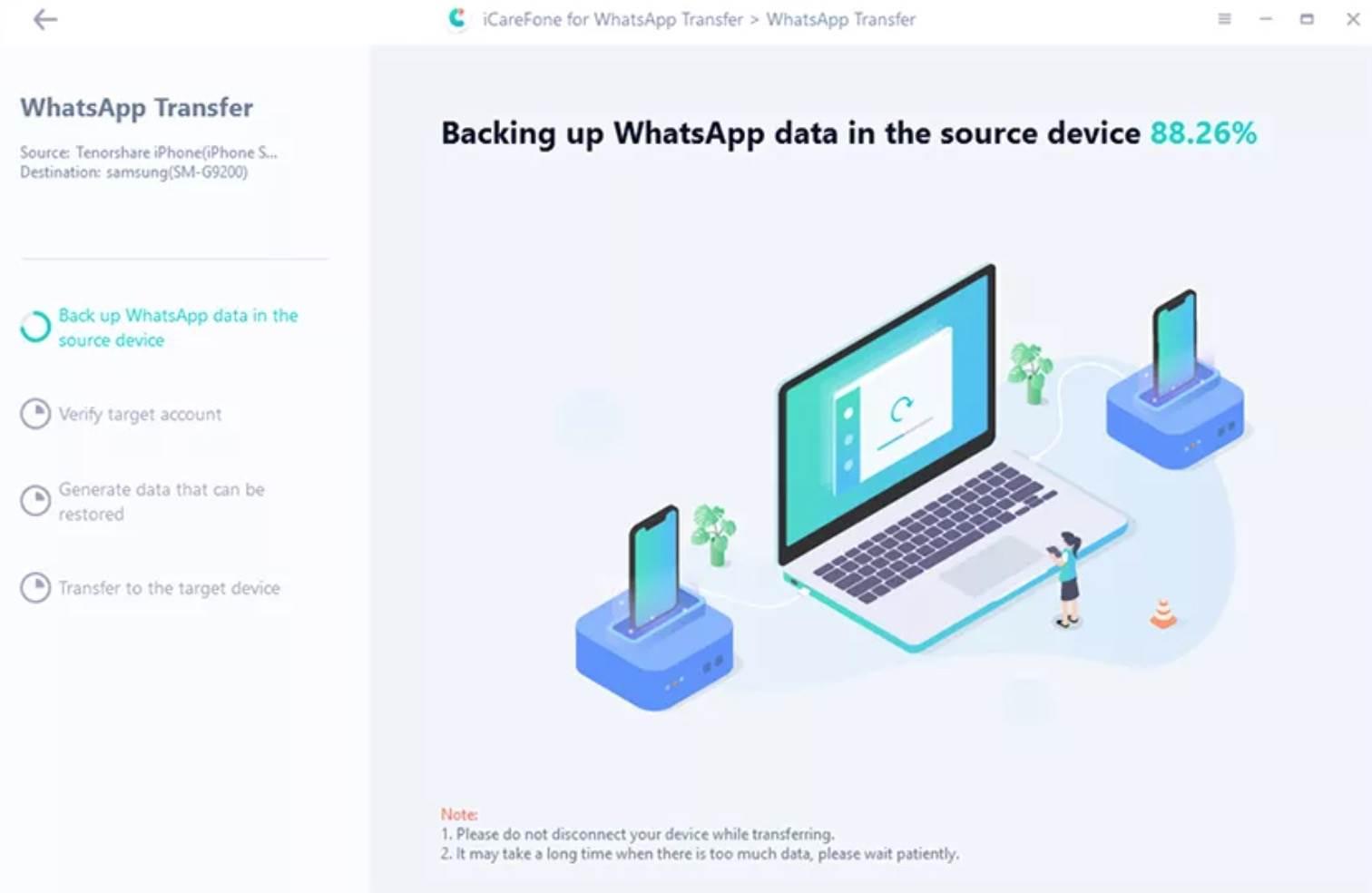 iCareFone: przesyłaj, twórz kopie zapasowe i przywracaj dane WhatsApp polecane, ciekawostki WhatsApp, jak przeniesc whastapp, iCareFone Whatsapp Transfer, iCareFone  Ponad miliard ludzi regularnie korzysta z komunikatora WhatsApp, który zapewnia bezpieczną komunikację z naszymi przyjaciółmi i rodziną. Wszystko fajnie pięknie, ale problem pojawia się wtedy, gdy chcemy przenieść czaty do nowego telefonu z innym systemem.  1@2x 32