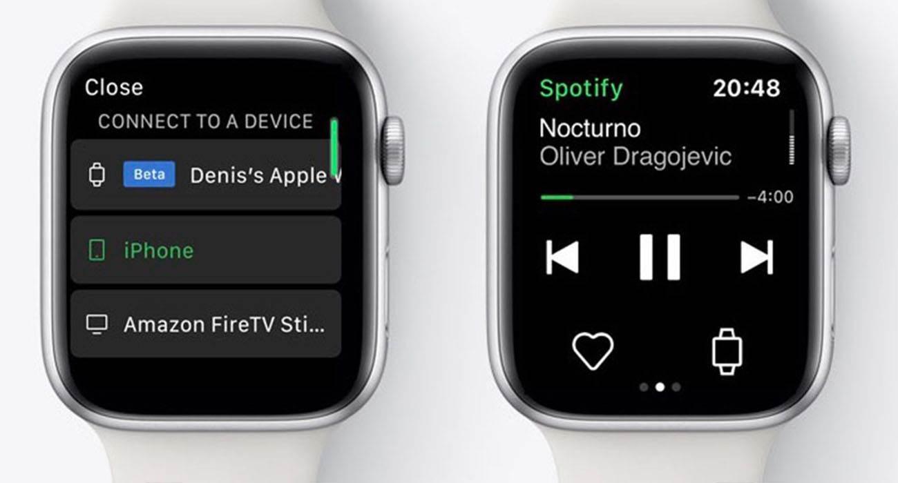 Spotify testuje przesyłanie strumieniowe na Apple Watch polecane, ciekawostki spotify na apple watch, Spotify, przesylanie strumienione, Apple Watch  Według nowego raportu, niemal dwa lata po uruchomieniu aplikacji Spotify na Apple Watch w końcu ruszyły testy obsługi przesyłania strumieniowego. AppleWatch Spotify